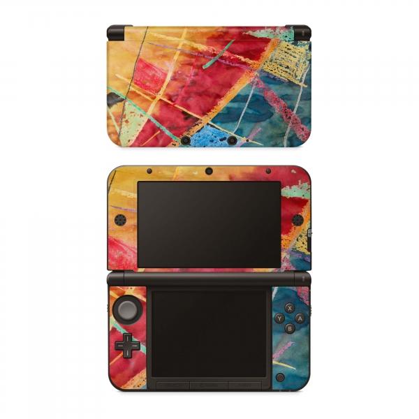 Nintendo 3DS XL Skin Aufkleber Design Schutzfolie Wachsmaler