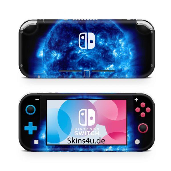 Nintendo Switch Lite Front & Back Skin Aufkleber Schutzfolie Blue Giant