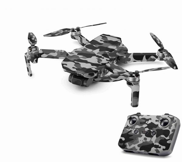 DJI Mavic Mini 2 Skin Aufkleber Wraps Skins Design Folie Urban Camo old