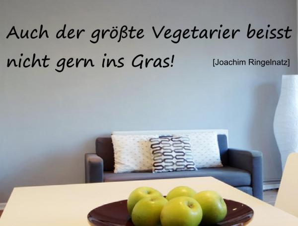 Wandtattoo Auch der größte Vegetarier beißt nicht gern ins Gras - SZ010