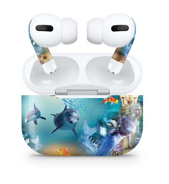 Apple AirPods Pro Skin Aufkleber Design Vinyl Skins Schutzfolie Atlantis