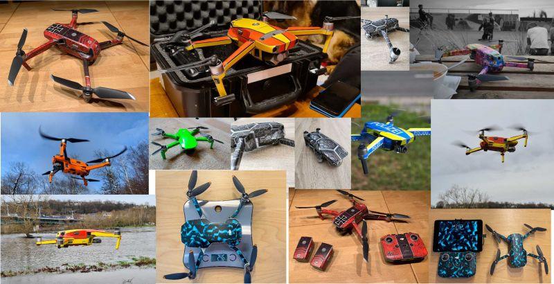 Drohnen Aufkleber Live vom Kunden