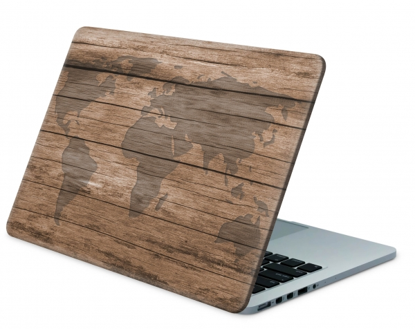 Universal Laptop Aufkleber Skin Netbook Designfolie - World Wood