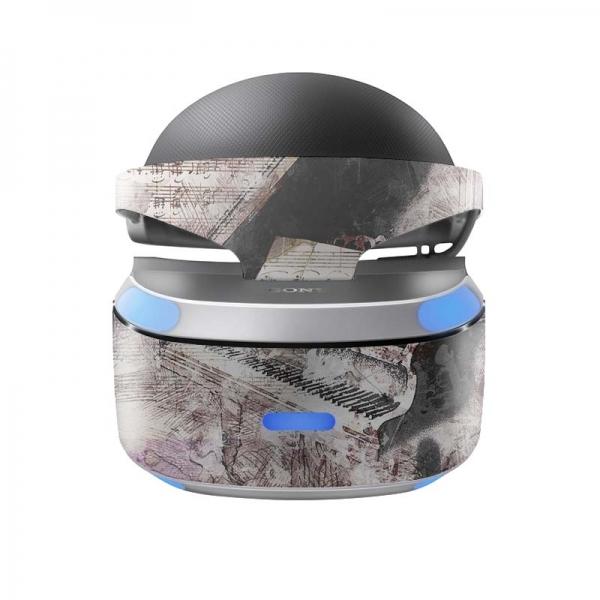 Sony Playstation VR Skin PS4 Design Aufkleber Piano
