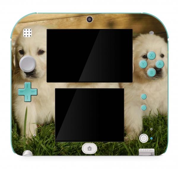 Nintendo 2DS Skin Aufkleber Design Schutzfolie Welpen