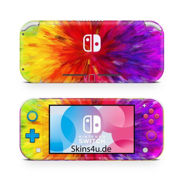 Nintendo Switch Lite Front & Back Skin Aufkleber Schutzfolie Color Diffusion
