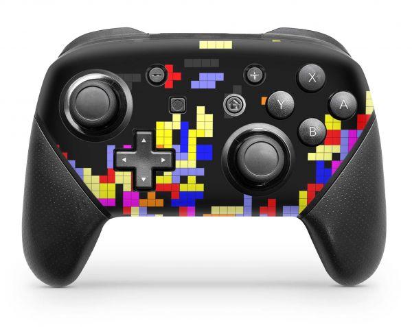 Nintendo Switch Pro Controller Skin Aufkleber Design Tetrads