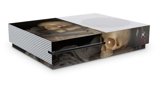 Xbox One S All Digital Skin Aufkleber Design Schutzfolie Skull and Revolver