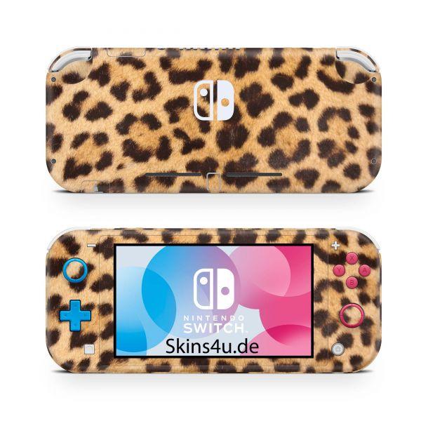 Nintendo Switch Lite Front & Back Skin Aufkleber Schutzfolie Leopardenfell