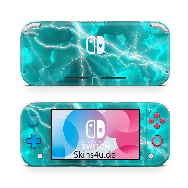 Nintendo Switch Lite Front & Back Skin Aufkleber Schutzfolie Apocalypse tuerkis