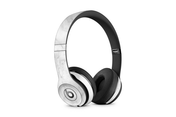 Beats Solo 3 Wireless Skin Design Aufkleber Schutzfolie Marmor Weiss