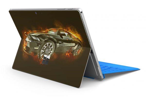 Microsoft Surface Pro 4 Skin Premium Aufkleber Schutzfolie Mustang