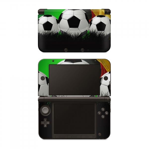 Nintendo 3DS XL Skin Aufkleber Design Schutzfolie Fussball Deutschland