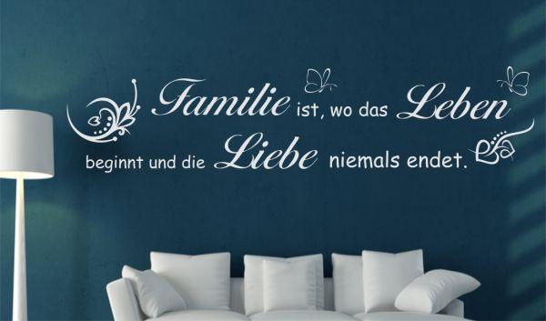Wandtattoo Spruch Zitat Familie ist, wo das Leben ...