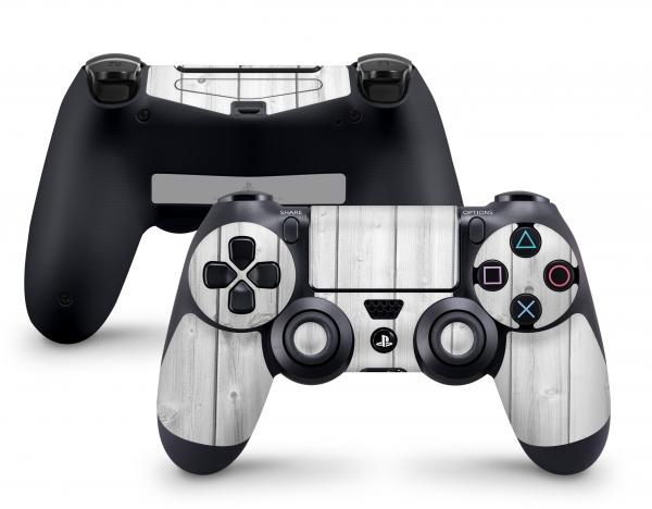 PLaystation 4 PS4 Controller Skin Design Aufkleber Design White Wood