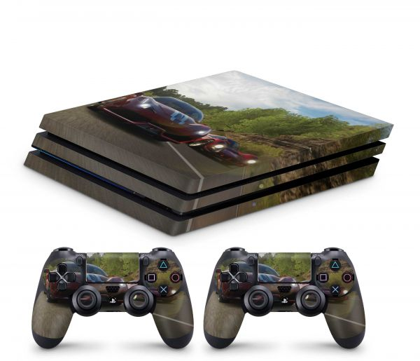 Playstation 4 Pro Skin Aufkleber + PS4 Controller Skins The Race