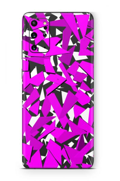 Samsung Galaxy A12 Skin Aufkleber Design Schutzfolie Signal pink