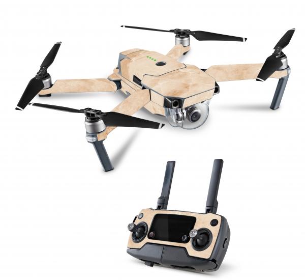 DJI Mavic 2 Enterprise Drohnen Skins Aufkleber Folien Set Marmor Gold