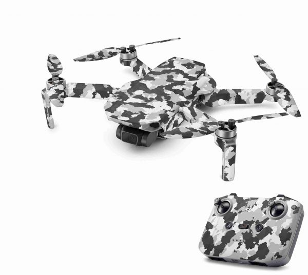DJI Mavic Mini 2 Skin Aufkleber Wraps Skins Design Folie Urban Camo new